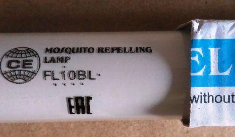 Ультрафиолетовая лампа FL10BL G13 для ловушки WE-100, МИД-Л20, Баргузин 3-2х10