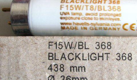 Ультрафиолетовая лампа F15W/T8/BL G13 Sylvania для WE-150, WE-813-SB30S, МИД-Л30, Баргузин 4-2х15