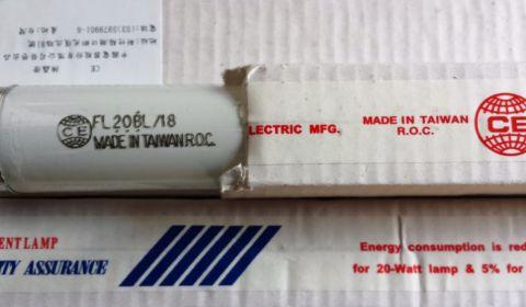 Ультрафиолетовая лампа FL20/T8/BL18W G13, T25/20W, 579 мм, WELL