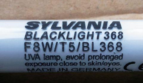 Ультрафиолетовая лампа F8/T5/BL368, G5  для GC-1-16, WE-816, Баргузин 2-2х8