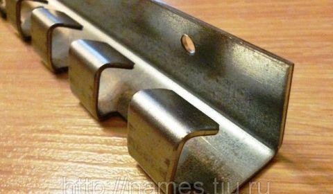 Гребенка (карниз) для полосы ПВХ, цинк