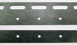 Планка 200 мм для полосы ПВХ 200*2, цинк