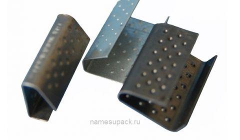 Скрепа металлическая для полипропиленовой ленты 12 мм